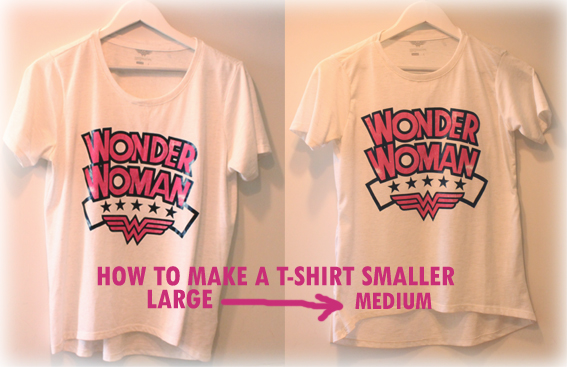 how to make a t shirt smaller